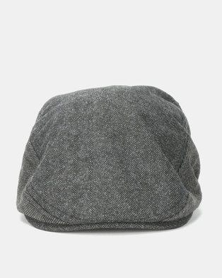 Brave Soul Dan Flat Cap Charcoal Grey 28ee8252c