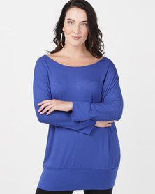 Utopia Plus Batwing Top Cobalt