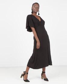 Utopia Floaty Knit Dress Black
