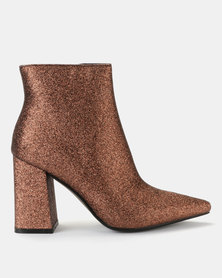 Public Desire Empire Glitter Boots Copper