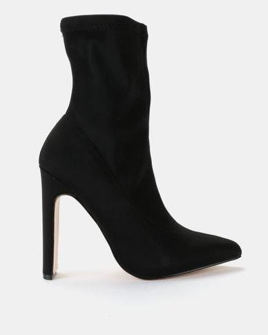 Public Desire Maven Lycra Boots Black