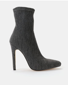 Public Desire Maxi Stretch Boots Dark Grey