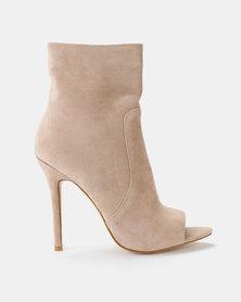 Public Desire Saskia Ankle Boots Nude