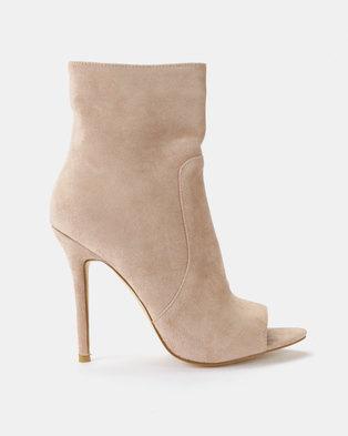 e3b7f0c429b Public Desire Saskia Ankle Boots Nude