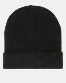 Brave Soul Penny F Knitted Beanie Black