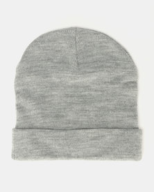Brave Soul Penny F Knitted Beanie Silver Grey Melange