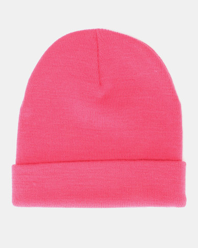 Brave Soul Penny Knitted Beanie Hot Pink