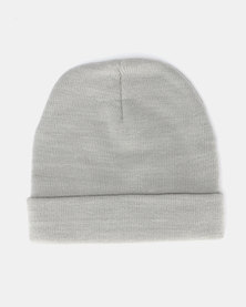 Brave Soul Penny Knitted Beanie Grey