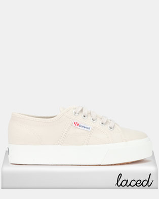a2f839ffdd5 Superga Canvas Mid Wedge Sneakers Grey Seashell
