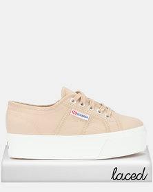 Superga Classic Canvas Full Wedge Sneakers Beige Moonlight