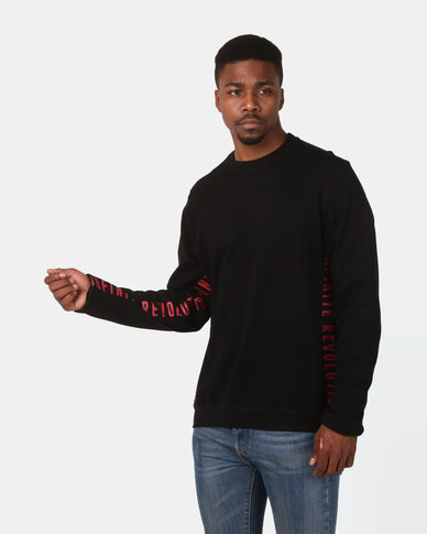 D-Struct Printed Sweatshirt Black