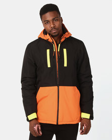 D-Struct Colourblock Hooded Jacket Black