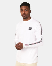 D-Struct Long Sleeve Crew Neck T-Shirt White