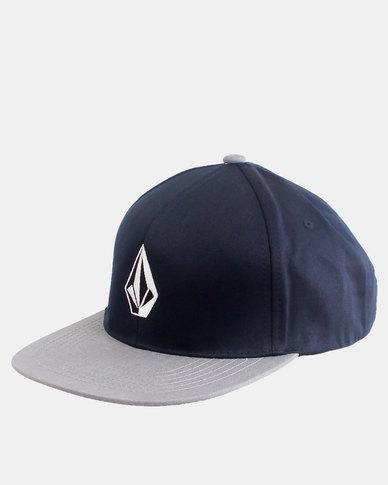 45e066534cd Volcom Stone Snapback Hat Navy Grey
