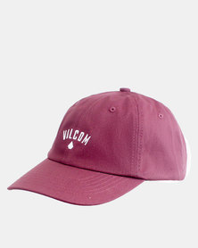 Volcom Dad Hat Wine Red