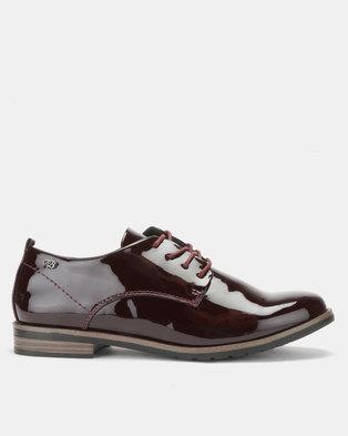 1649ac998c9 Miss Black Alpha 2 Slip On Shoes Burgundy Patent