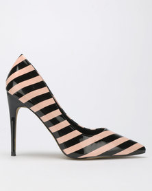 Dolce Vita Symmetry Court Heels Nude/Black