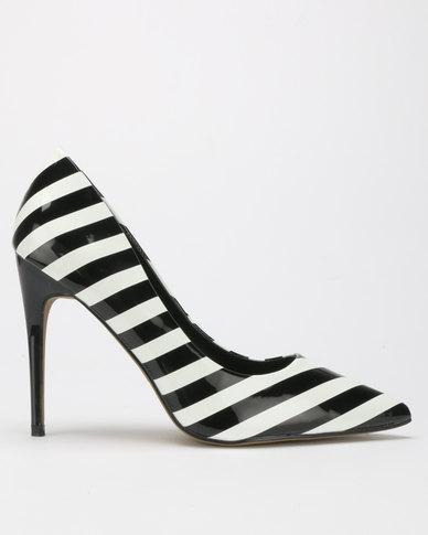 Dolce Vita Symmetry Court Heels White/Black