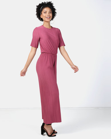Legit Pleated Jumpsuit Raspberry