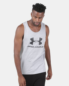 Under Armour Sportstyle Logo Tank Grey