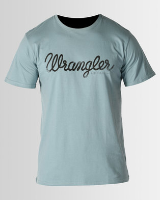 Wrangler Classic T-Shirt Blue Mirage