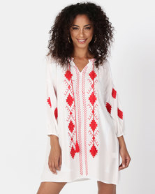 UB Creative Cotton Embroidery Tunic White