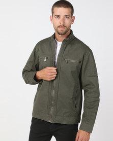 JCrew Bomber Cotton Jacket Fatigue
