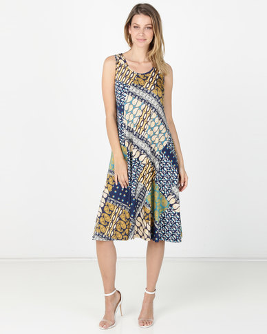 Queenspark Multicoloured Paisley Printed Design Sleeveless Dress Multi