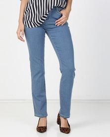 Queenspark Core Programme Woven Denim Jeans Blue