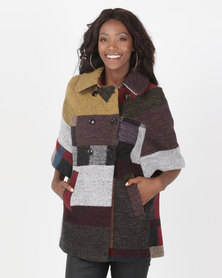 Miss Cassidy By Queenspark Multi Colour Woven Coat Multi