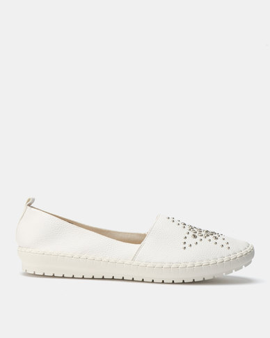 Queenspark Star Loafers White