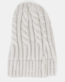 You & I Cable Knit Beanie Stone