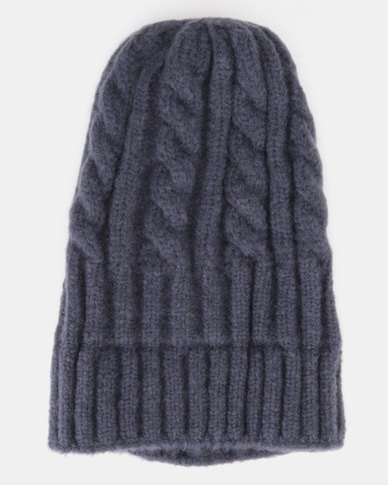 adb1c806690 You   I Cable Knit Beanie Navy