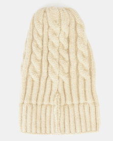 You & I Cable Knit Beanie Cream