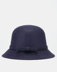 You & I Felt Bucket Hat Navy
