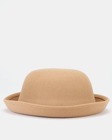 You & I Felt Bowler Hat Tan