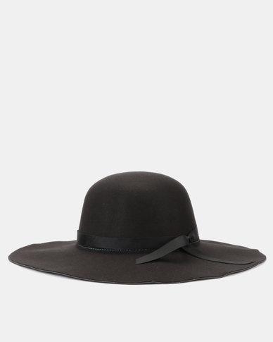 You & I Felt Floppy Hat Black