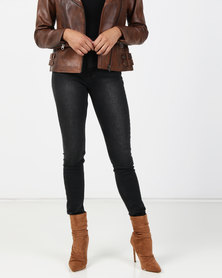 Brave Soul Skinny Jeans Charcoal