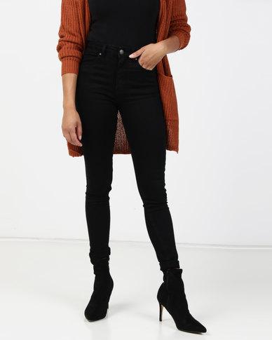 Brave Soul Skinny Jeans Jet Black