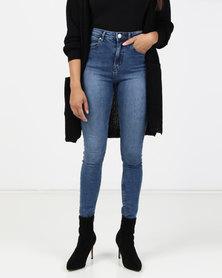 Brave Soul Skinny Jeans Vintage Blue