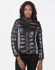 Brave Soul Padded Jacket With Reflective Side Black