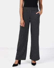 Brave Soul Trousers With Wide Leg Black