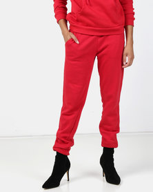 Brave Soul Jogging Pants Red