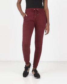 Brave Soul Jogging Pants Ruby Wine