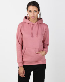 Brave Soul Hooded Sweatshirt With Pouch Pocket Baked Pink