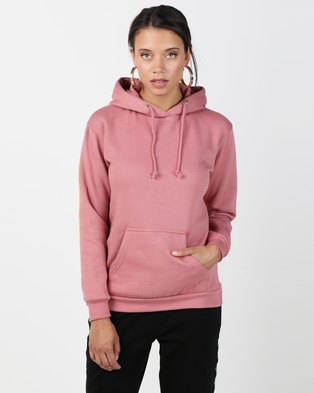 b1598fd8d63 Brave Soul Hooded Sweatshirt With Pouch Pocket Baked Pink
