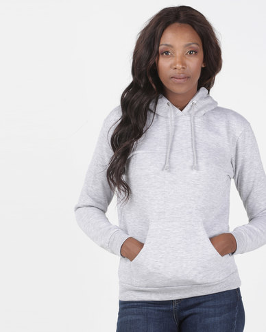 Brave Soul Hooded Sweatshirt With Pouch Pocket Grey