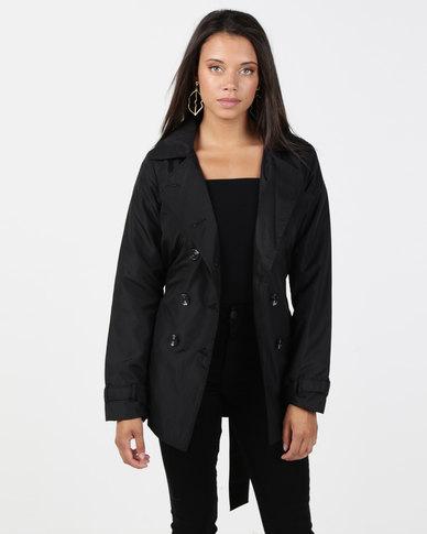 Brave Soul Short Mac Jacket Black