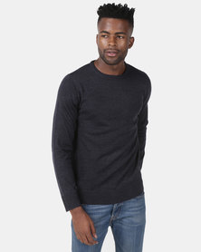 Brave Soul Crew Neck Jumper Navy
