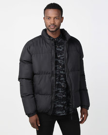 Brave Soul Padded Jacket Black